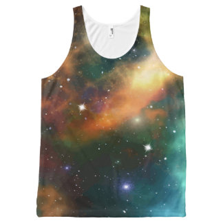 Outer Space Starfield Design All-Over-Print Tank Top