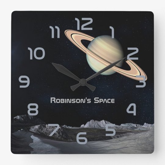Outer Space themed Home Decor personalised Wall Clock