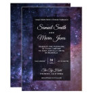 Outer Space Universe Galaxy Wedding Invitation