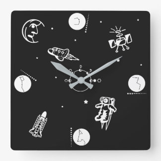Outer Space Wallclock