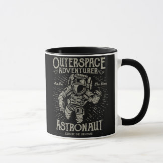 Outerspace Adventurer Astronaut Aim For The Stars Mug