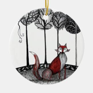 Outfox the fox christmas tree ornaments