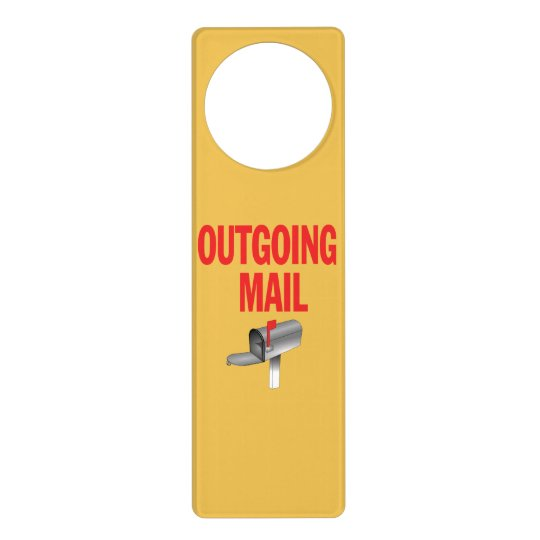 Outgoing Mail pickup sign Door Hanger