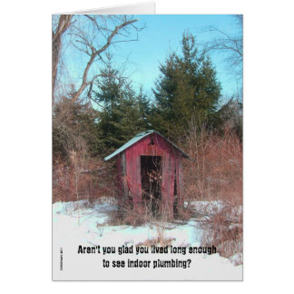 Outhouse Birthday Card