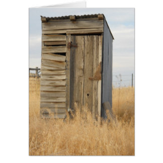 """Outhouse"" Card"
