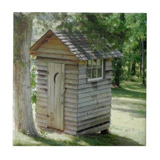 Outhouse decorative tile