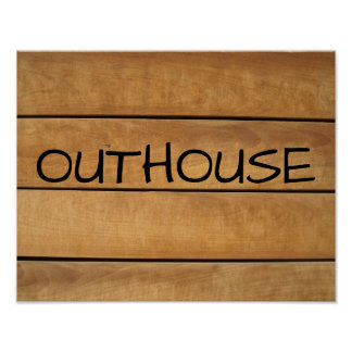 OUTHOUSE Rustic Bathroom Signs