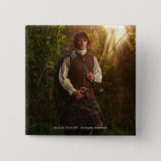 Outlander | Jamie Fraser - In Woods 2 Inch Square Button