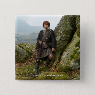 Outlander | Jamie Fraser - Leaning On Rock 2 Inch Square Button