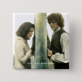 Outlander Season 3 | Claire and Jamie 2 Inch Square Button