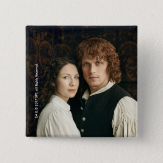 Outlander Season 3 | Jamie and Claire Photograph 2 Inch Square Button