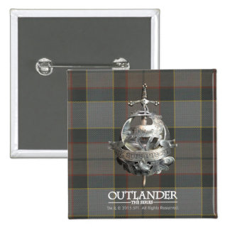 Outlander | The Fraser Brooch 2 Inch Square Button