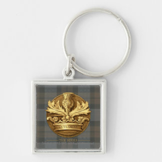 Outlander | The Thistle Of Scotland Emblem Silver-Colored Square Keychain