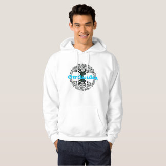 Outlandia - Tree - Hoodie with Blue Letters