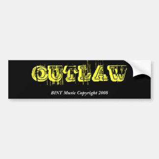Outlaw-Bumper Sticker 1