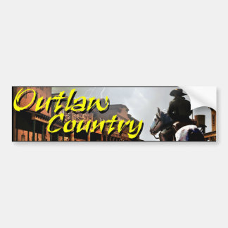 Outlaw Country Bumper Sticker