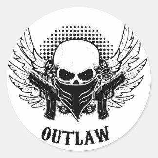 OUTLAW cute, beautiful, Classic Round Sticker
