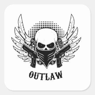 OUTLAW cute, beautiful, Square Sticker