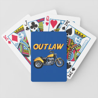 Outlaw Gold Trike Bicycle Playing Cards
