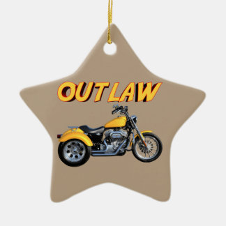 Outlaw Gold Trike Ceramic Star Ornament