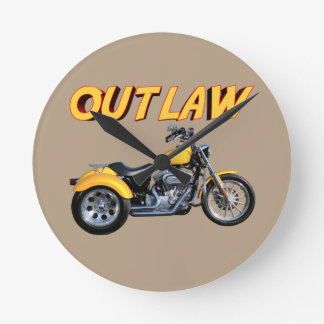 Outlaw Gold Trike Wall Clock