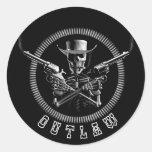 Outlaw Skeleton Stickers