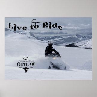 Outlaw Sledding Poster