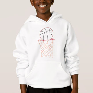 Outline art - basketball and hoop drawing, shirts