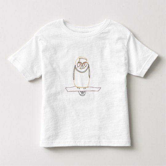 Outline art drawing - Owl - Colouring Shirts