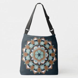 Outline & Colored Floral Mandala Design 060517_1 Crossbody Bag