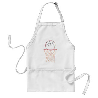 Outline Drawing Basketball and Net, sports aprons
