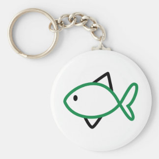 Outline Fish Keychain