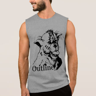 outline grey panther sleeveless shirt
