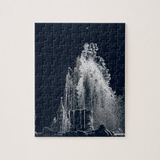 outline of a blue night jigsaw puzzle