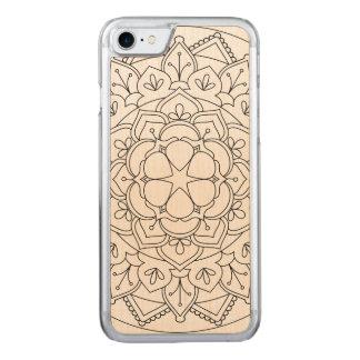 Outlined Floral Mandala  060517_1 Carved iPhone 8/7 Case