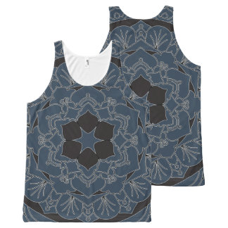 Outlined Floral Mandala 060517_4 All-Over-Print Tank Top
