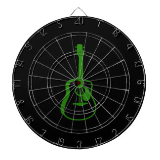 outlined guitar graphic green dart boards