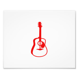 outlined guitar graphic red photo