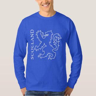 Outlined Heraldic Scotland Lion Rampant T-Shirt