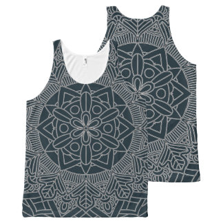 Outlined Mandala Design 060517_3 All-Over-Print Tank Top