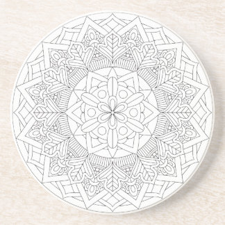 Outlined Mandala Design 060517_3 Coaster