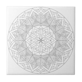 Outlined Mandala Design 060517_3 Tile