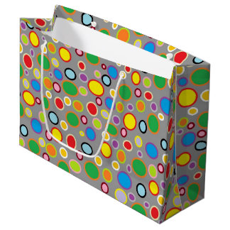 Outlined Polka Dots Large Gift Bag