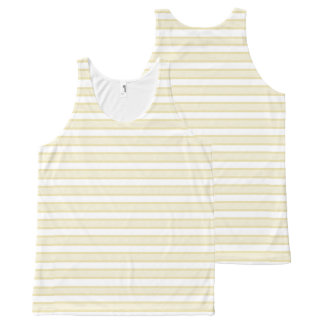 Outlined Stripes Beige All-Over-Print Tank Top