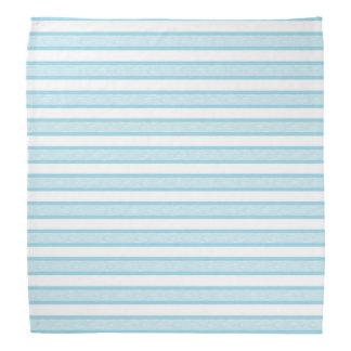 Outlined Stripes Pastel Blue Bandana