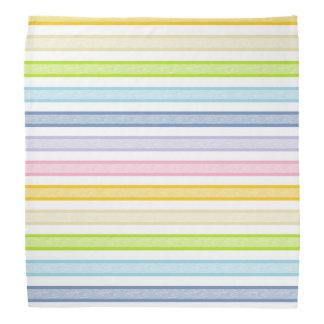 Outlined Stripes Pastel Rainbow Bandana
