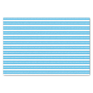 Outlined Stripes Turquoise Tissue Paper