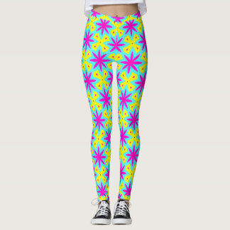 Outrageously Wild Stars and Cool Colors Leggings
