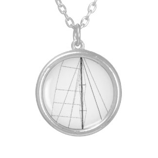 outremer_55_drawing silver plated necklace