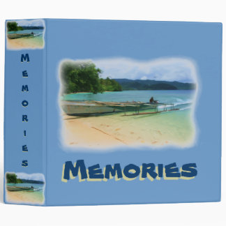 Outrigger Canoe Beaching Memories Scrapbook Binder
